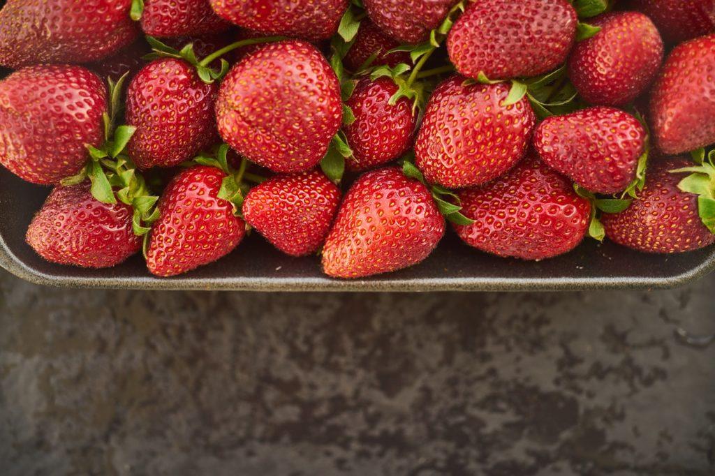strawberry, fruit, macro